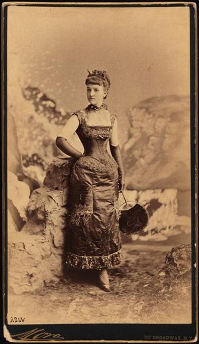"""Miss Elizabeth """"Bessie"""" Remsen Webb as the demon lady."""