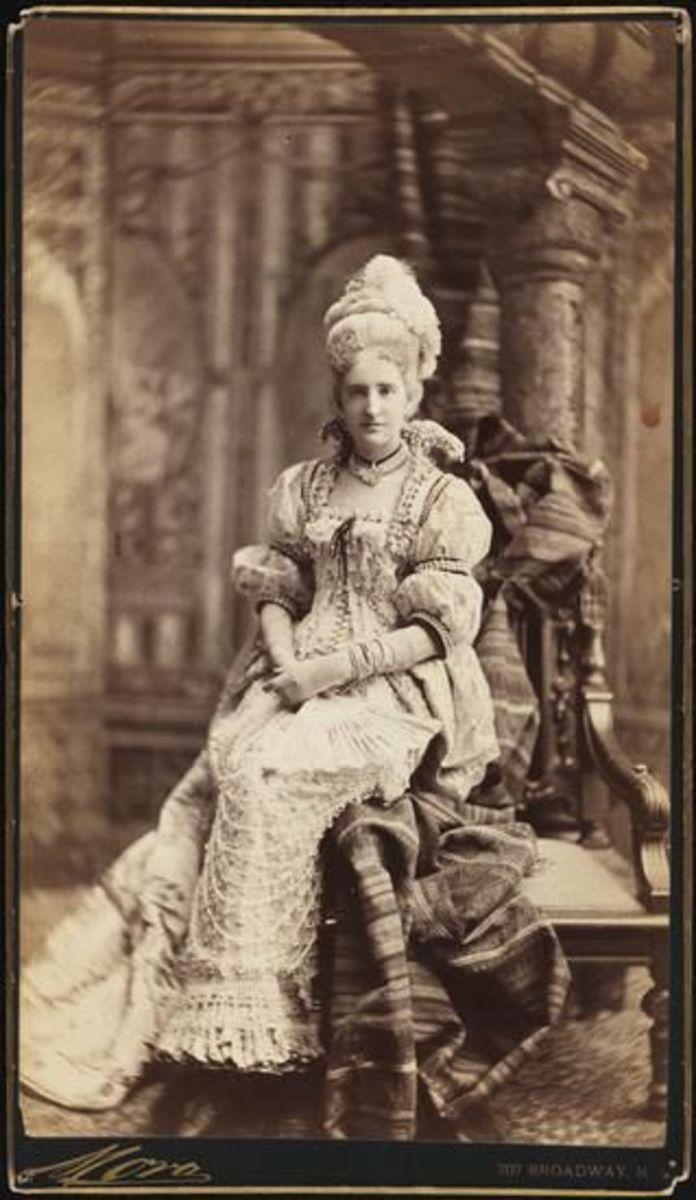 Mrs. Elliot F. Shepard (Margaret Louisa Vanderbilt) was arrayed as a Venetian Lady in high pearl collar.