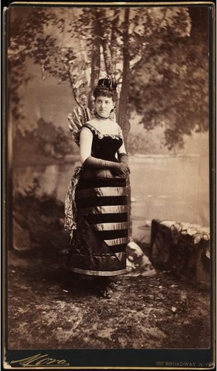 Mrs. William Seward Webb (neé Lila O. Vanderbilt), dressed as a hornet and wearing a diamond crown.
