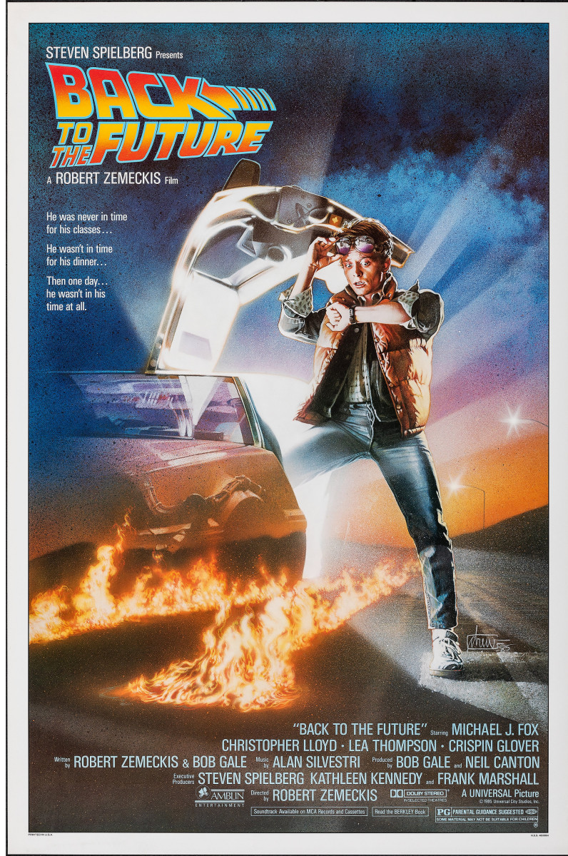 Back to the Future (1985) movie poster.