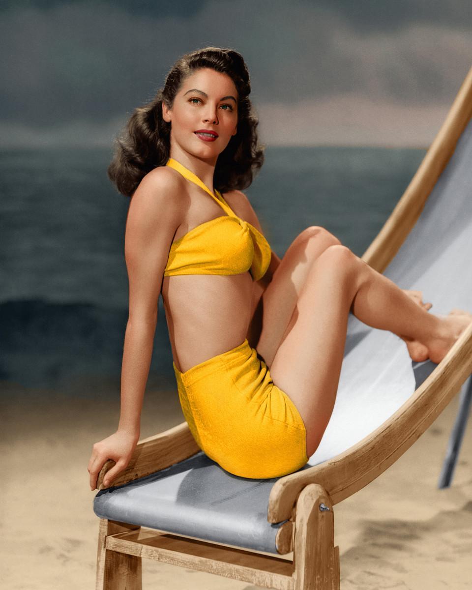 Actress Ava Garner was spectacular in her 1945 swimsuit.