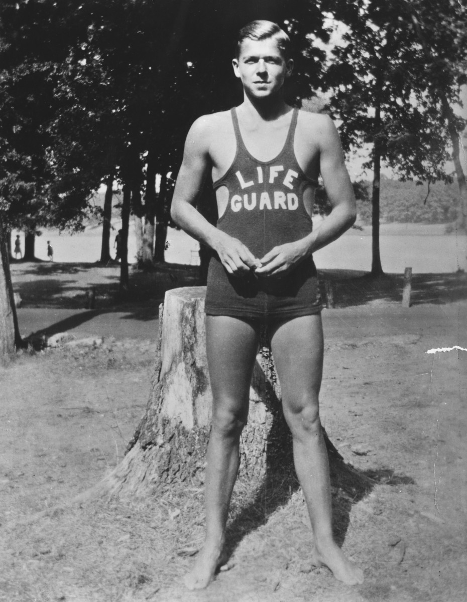 Future president Ronald Reagan first learned to save the day as a lifeguard.