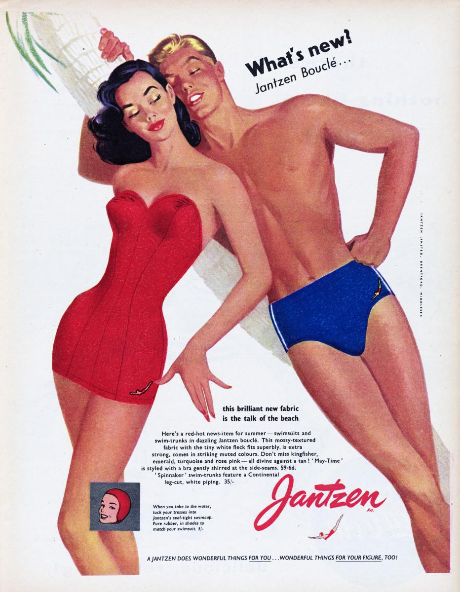 Jantzen swimwear advertisement.