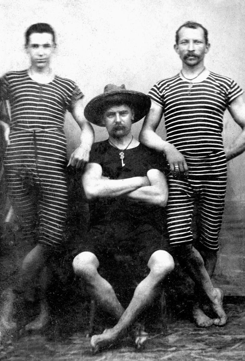 1880s men's swimsuits