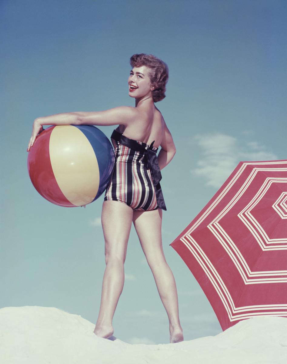 Having a ball on the beach.
