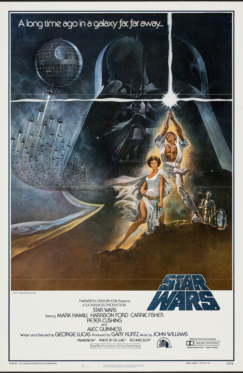 Star Wars (1977) movie poster.