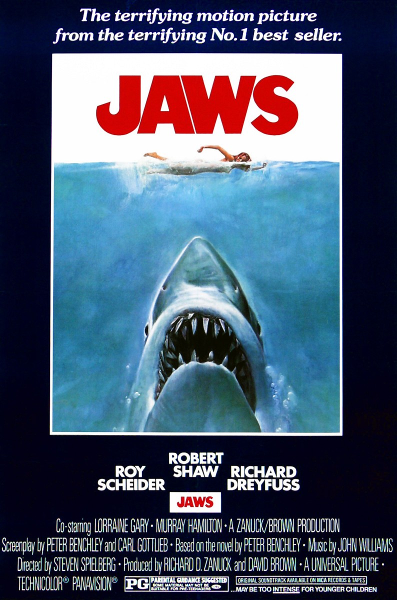 Jaws (1975) movie poster.