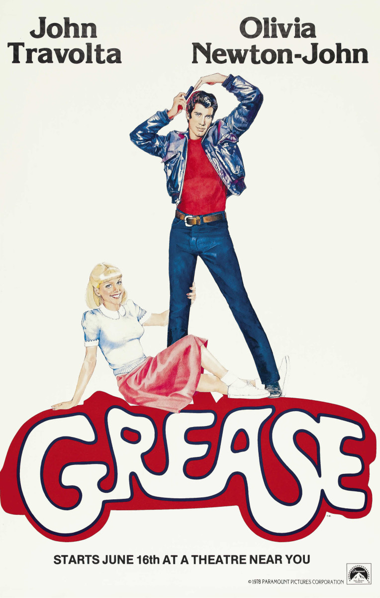 Grease (1978) movie poster.