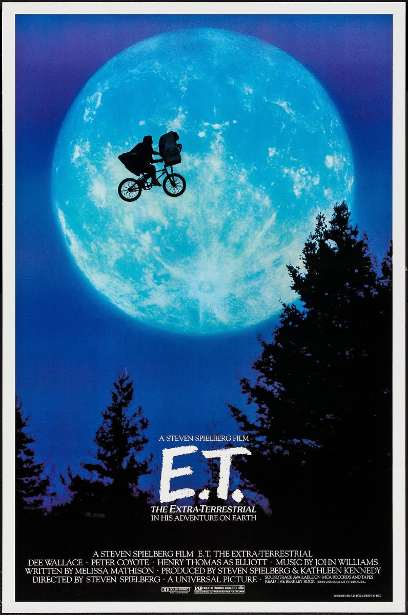 E.T. The Extra-Terrestrial (1982) movie poster.