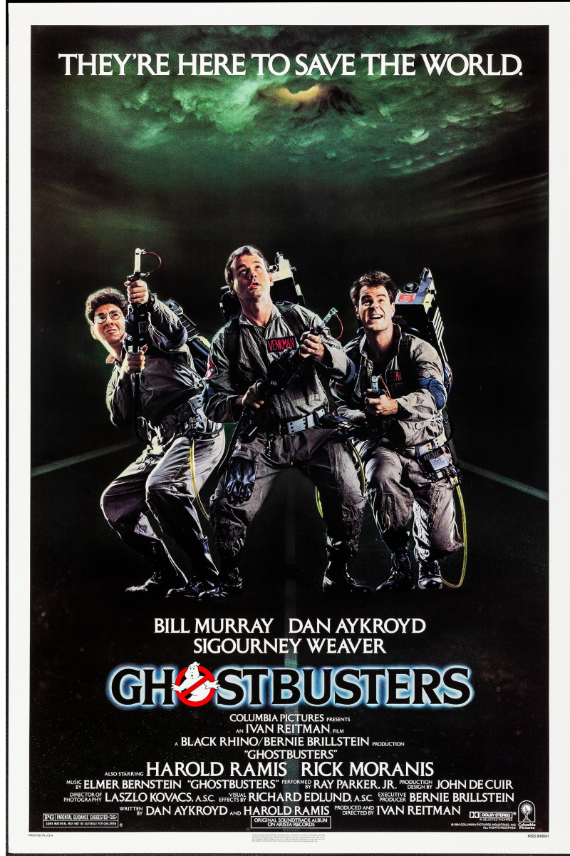 Ghostbusters (1984) movie poster.
