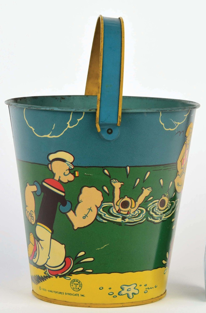 Another scene on the Popeye sand pail.