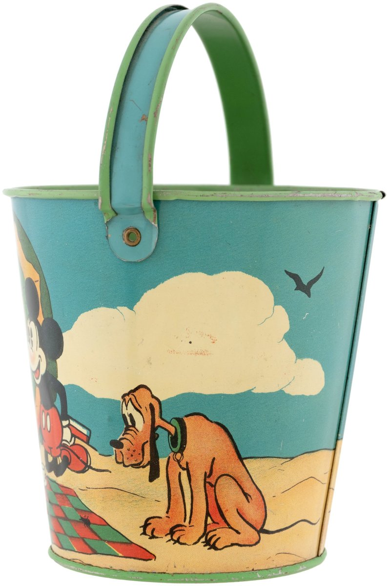 The other side of the pail shows Pluto.