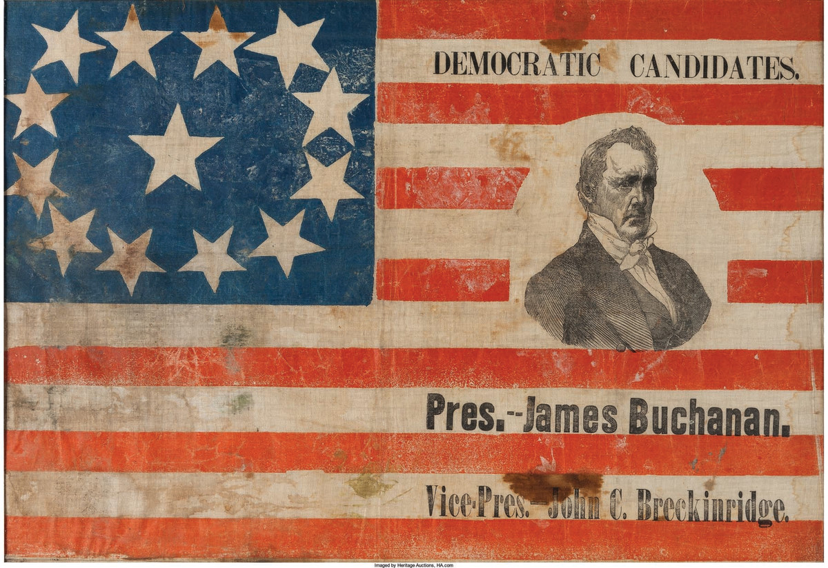 James Buchanan campaign banner, 1856.