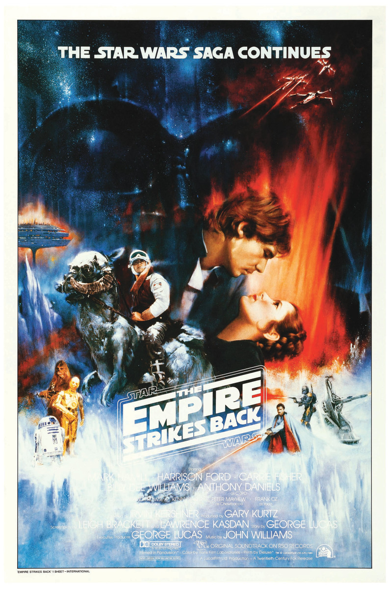 A rare Star Wars concept poster by Roger Kastel for The Empire Strikes Back.