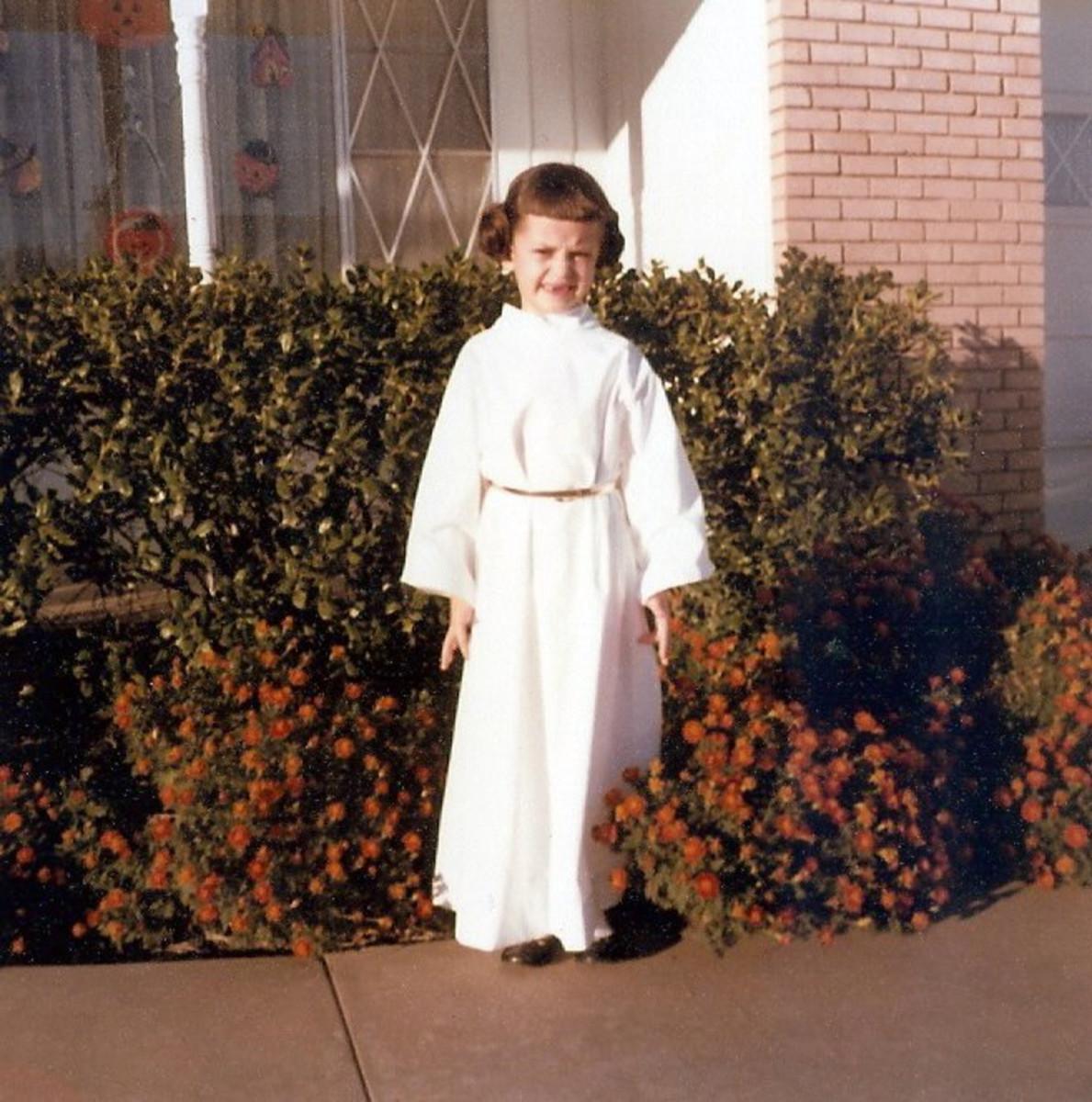 Amy Sturgis as Princess Leia for Halloween.