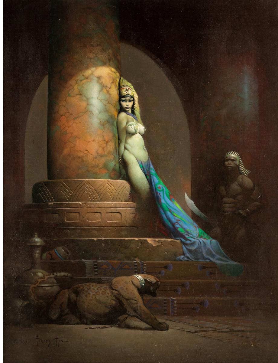 """Frank Frazetta's """"Egyptian Queen."""""""