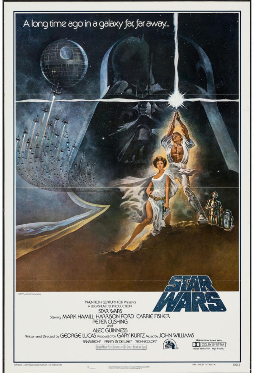 Star Wars movie poster 1977.