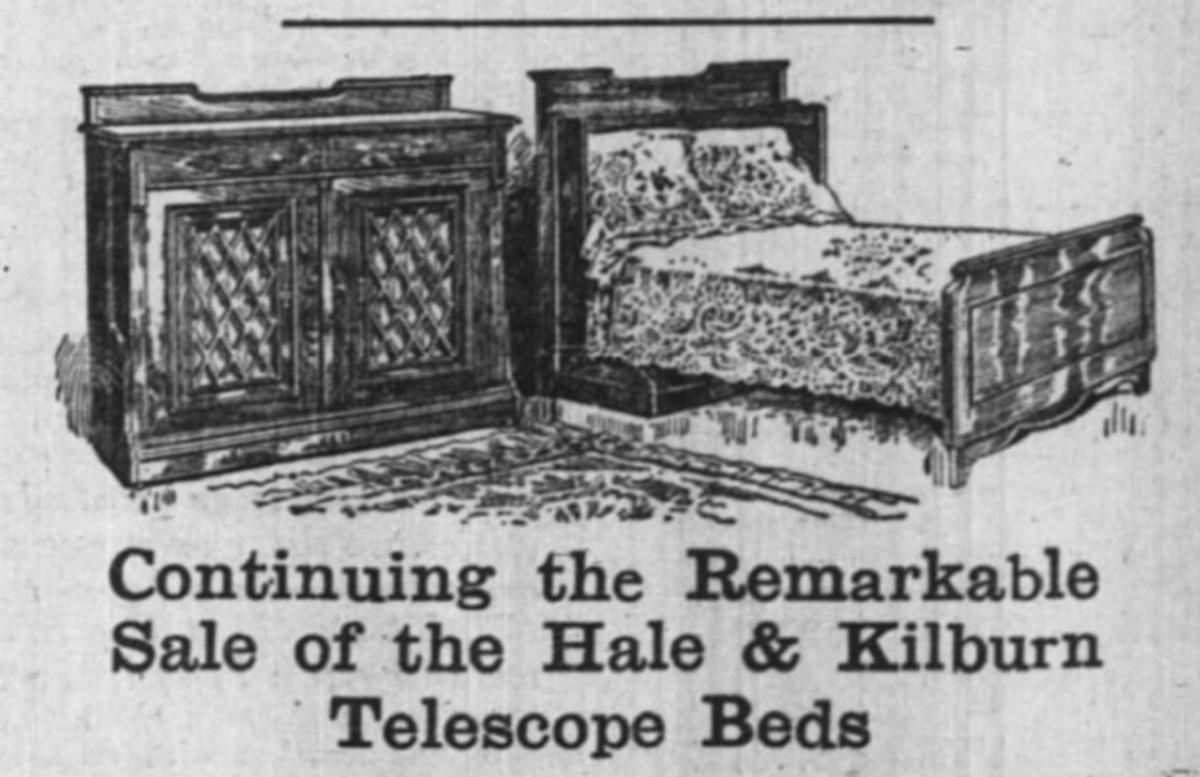 hale & kilburn telescope beds ad