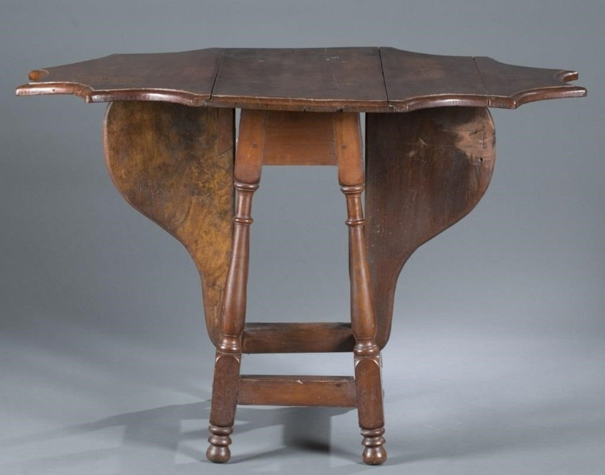 william & mary style butterfly antique table