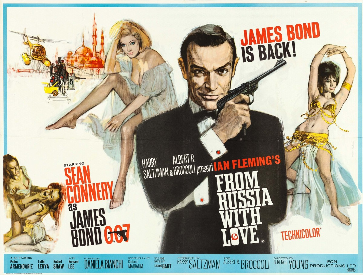 Connery made a triumphant return as everyone's favorite spy in this popular second chapter of Ian Fleming's thrilling James Bond franchise in 1963. Artists Renato Fratini and Eric Pulford combined their formidable artistic prowess in this fantastic movie poster. It's not easy to find this fan favorite poster in great condition, as evidenced by its auction realized price of $11,950