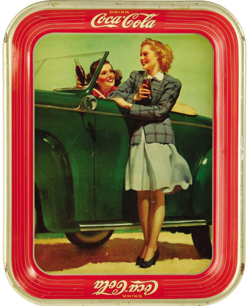 A 1942 Coca-Cola Tray, as seen in The Martin Guide to Coca-Cola Memorabilia (used with permission).