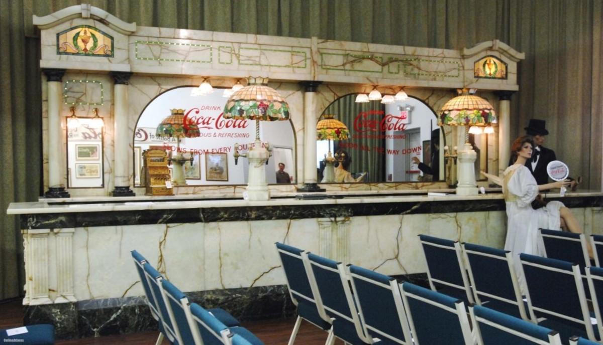 1893 Chicago World Fair soda fountain, $4.5 million, sold through Richard Opfer Auctioneering Inc March, 2013.