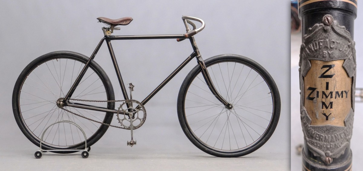 """The rare circa 1896 """"Zimmy"""" pneumatic safety by Zimmerman Mfg. Co., Freehold, NJ, $15,210."""
