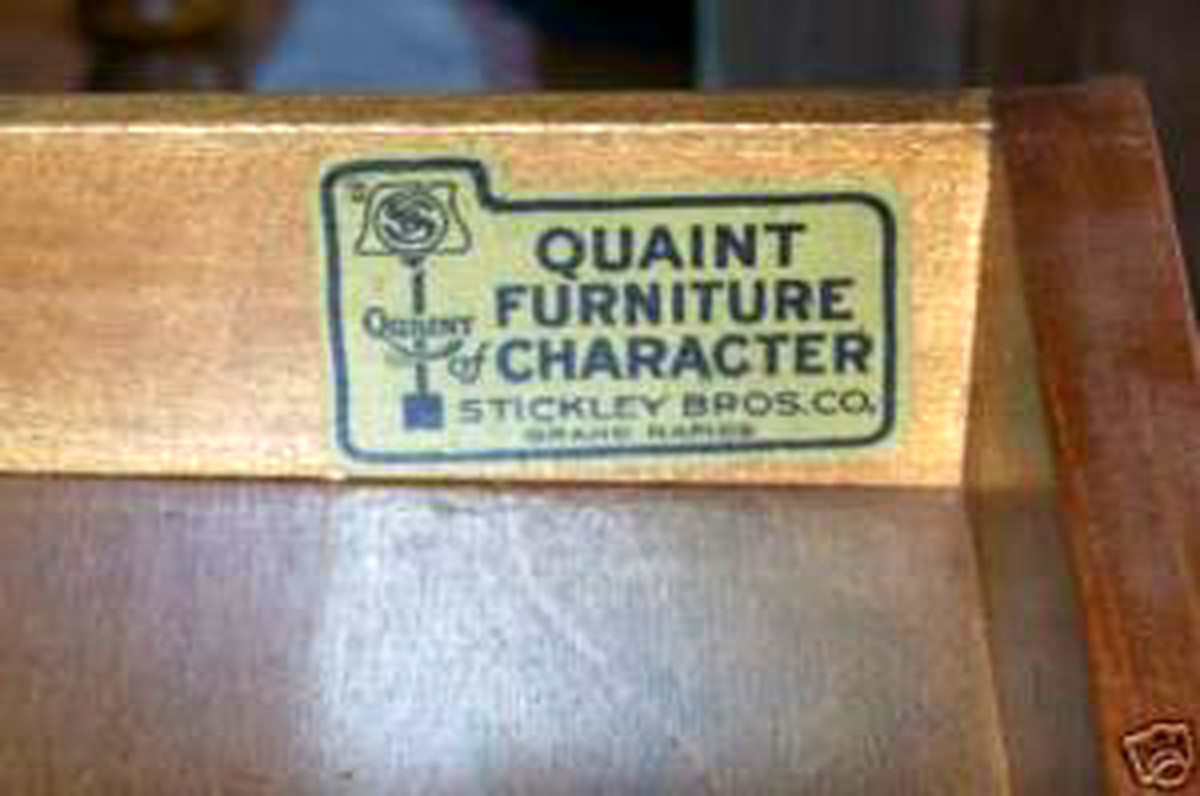 Stickley Bros. Co. Quaint Furniture.
