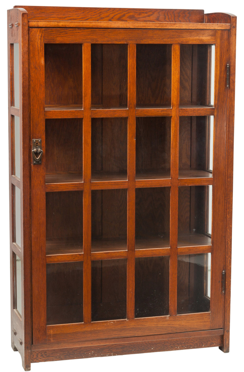 Gustav Stickley single-door bookcase.