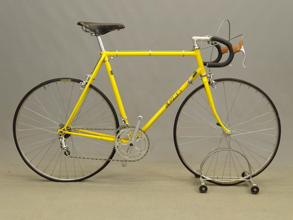 This Albert Eisentraut men's 10-speed 23-inch bicycle, with frame marked Eisentraut / Oakland, is one of many from the Anthony LaPaglia collection that Copake will be offering next April.