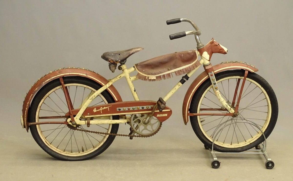 This rare Gene Autry boy's bicycle is one of the featured lots in Copake's April 2021 auction.