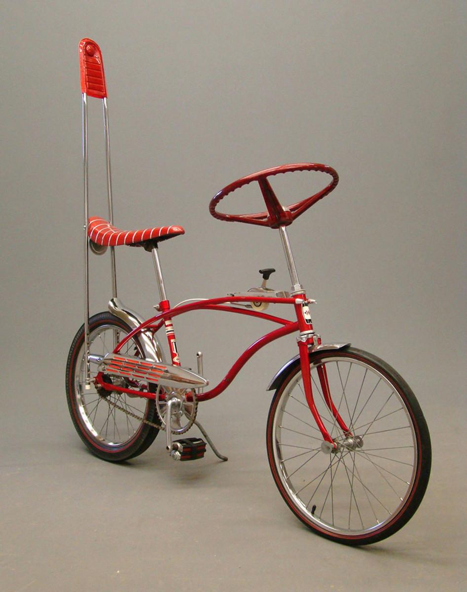 "Huffy ""The Wheel III"" muscle bike (serial #9C242696) with rare original Shimano 3 speed, $1,800."