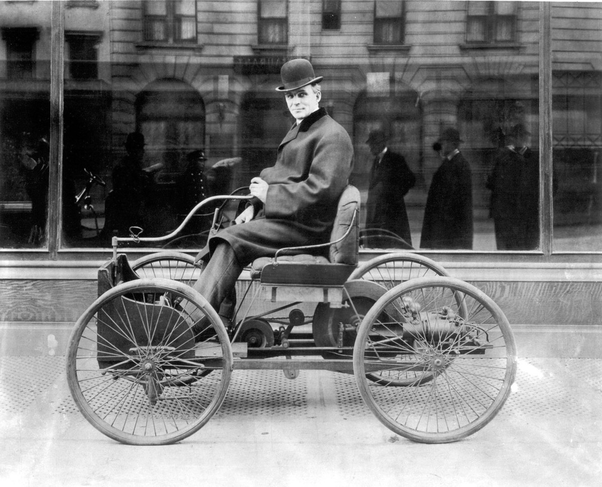 The 1896 Quadricycle, Henry Ford's first attempt to build a gasoline-powered automobile.