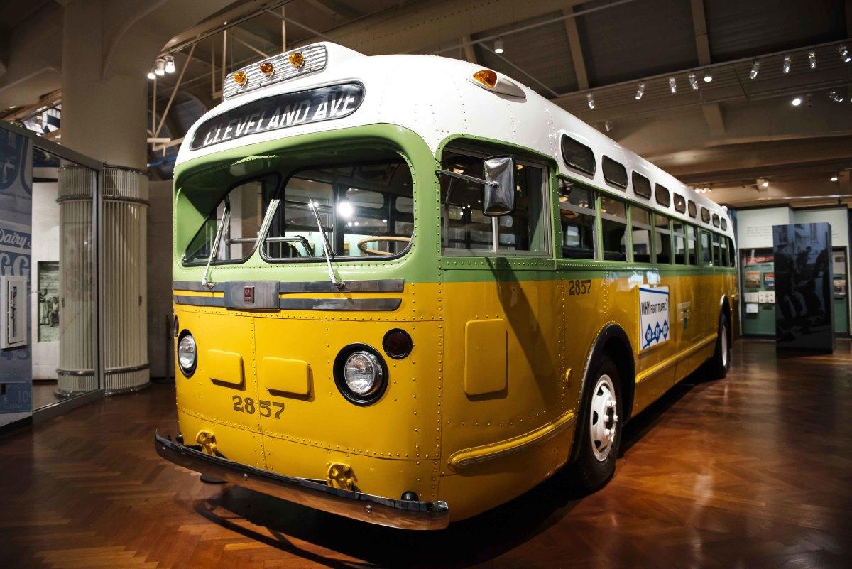 The Rosa Parks bus.
