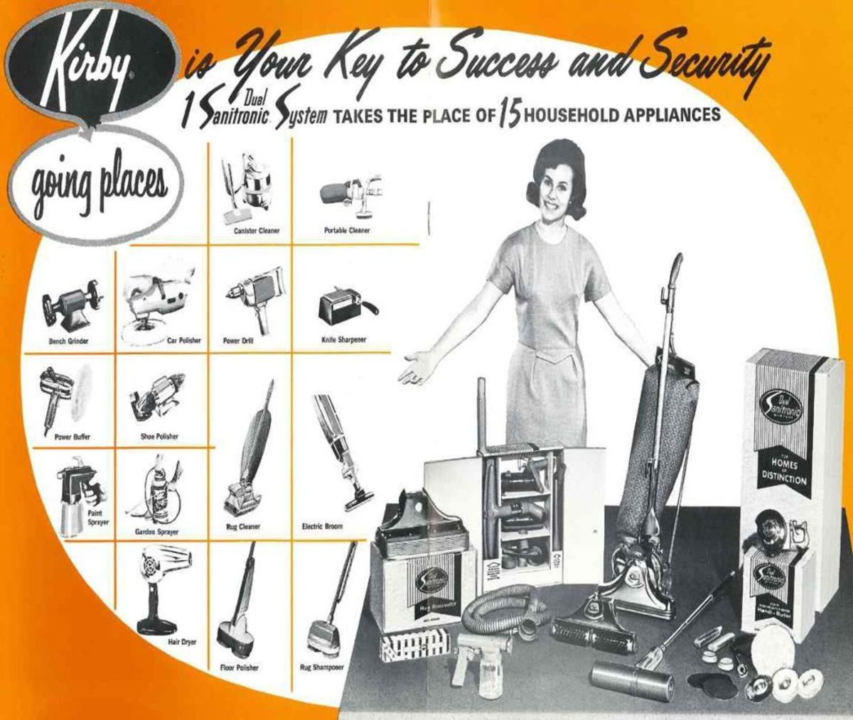 Kirby vacuum cleaner Dual Sanitronic, 1967