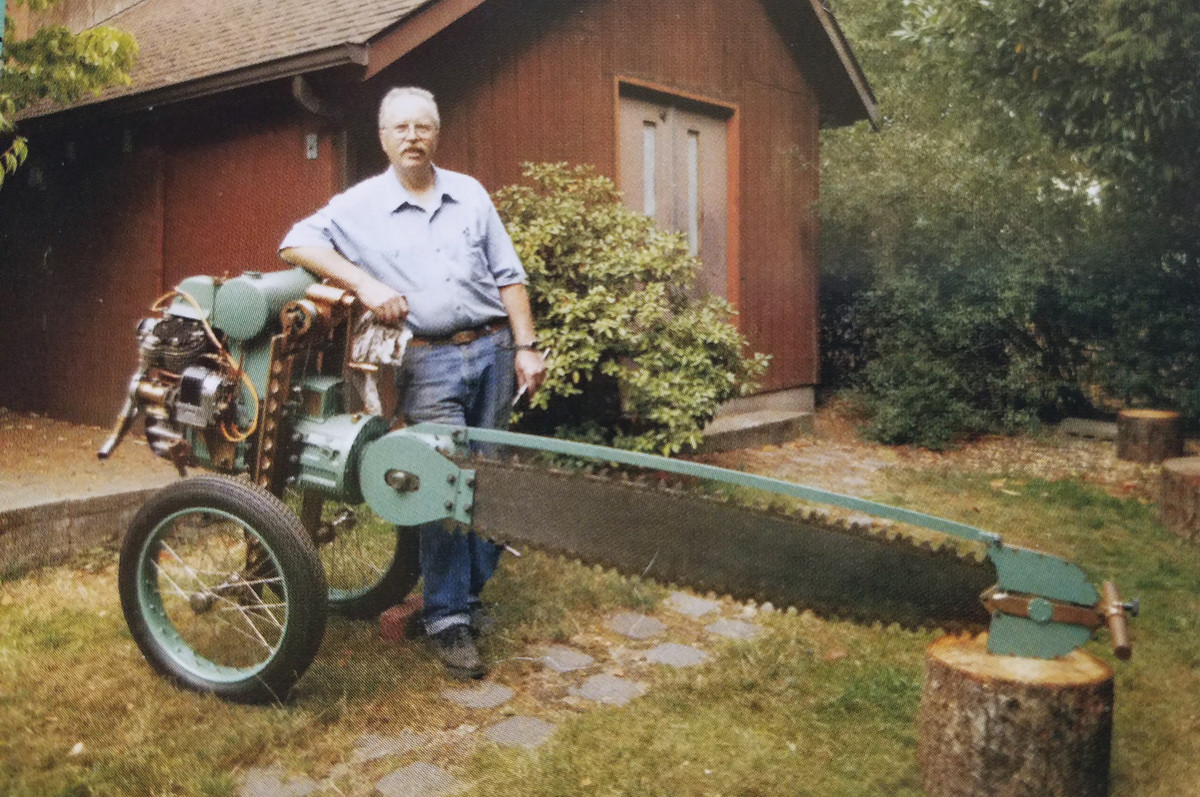 A Dow low-stump chainsaw from 1933