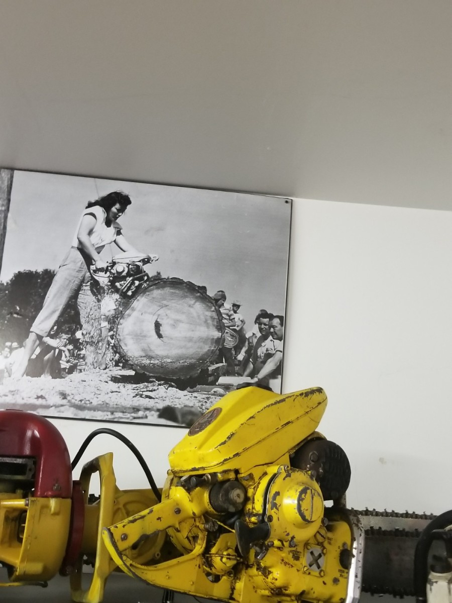 Female chainsaw operator