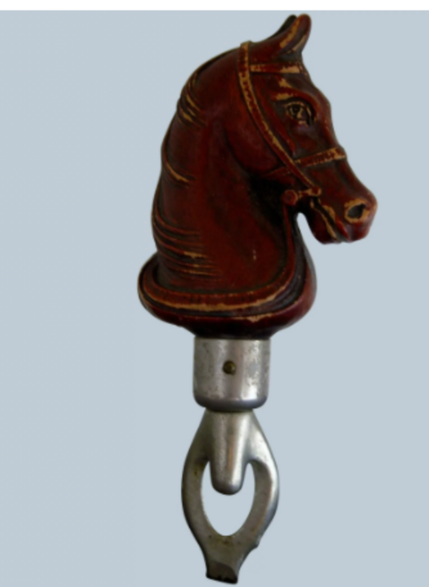 A vintage 1930s-1940s Syroco horse head bottle opener, $36.