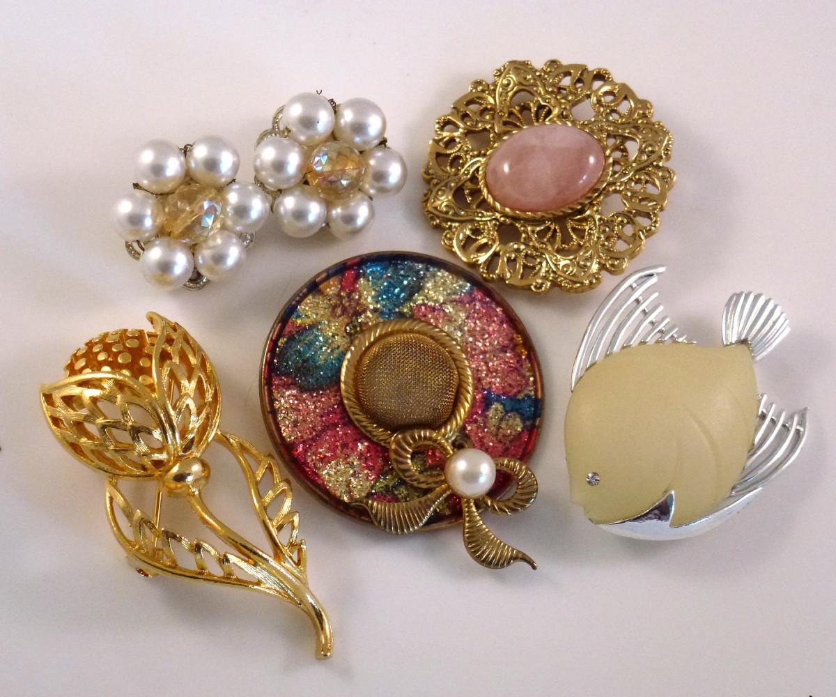 Rhinestone jewelry.