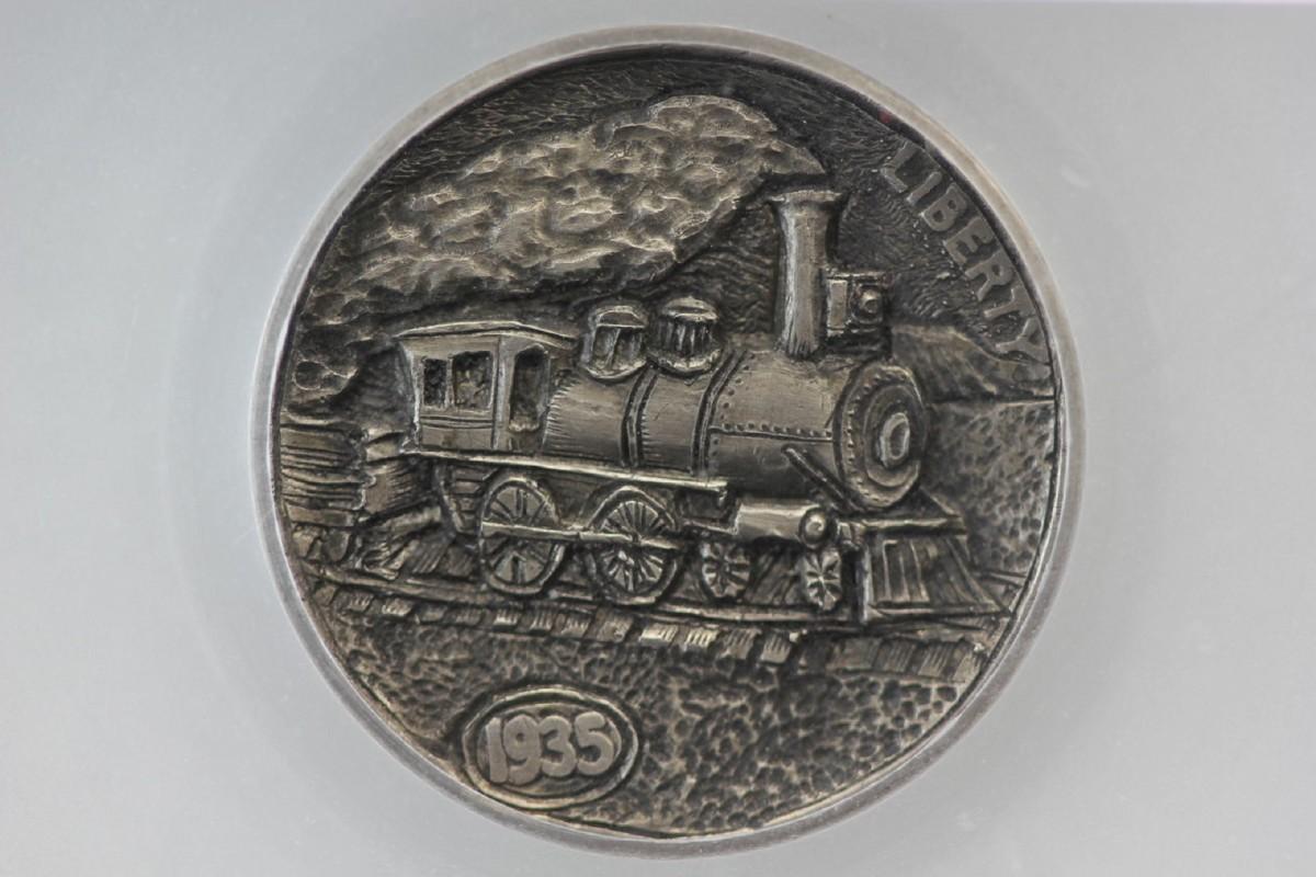 """Steam Locomotive"" hobo nickel"