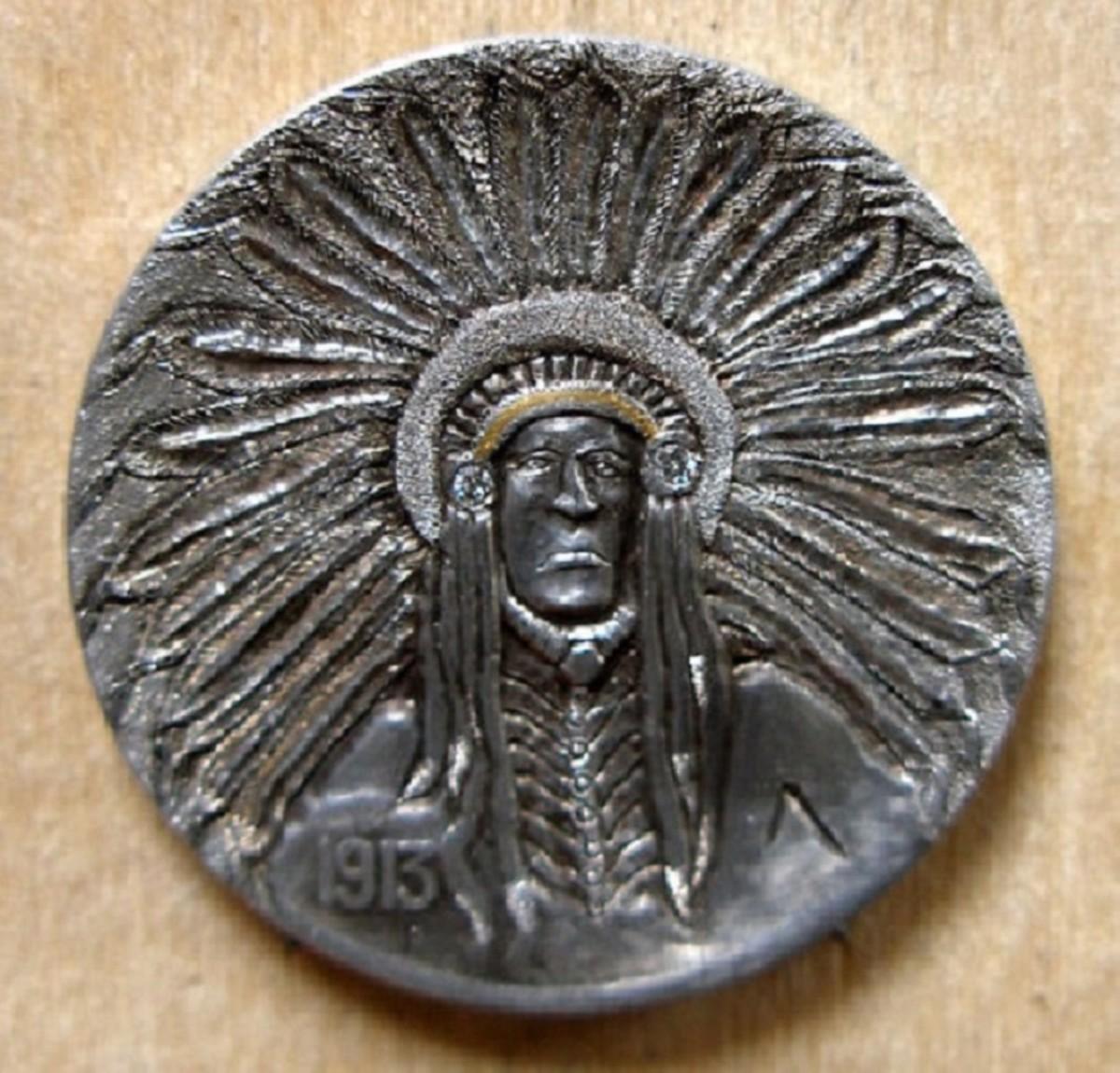 Chief Costalotta 1913 buffalo nickel