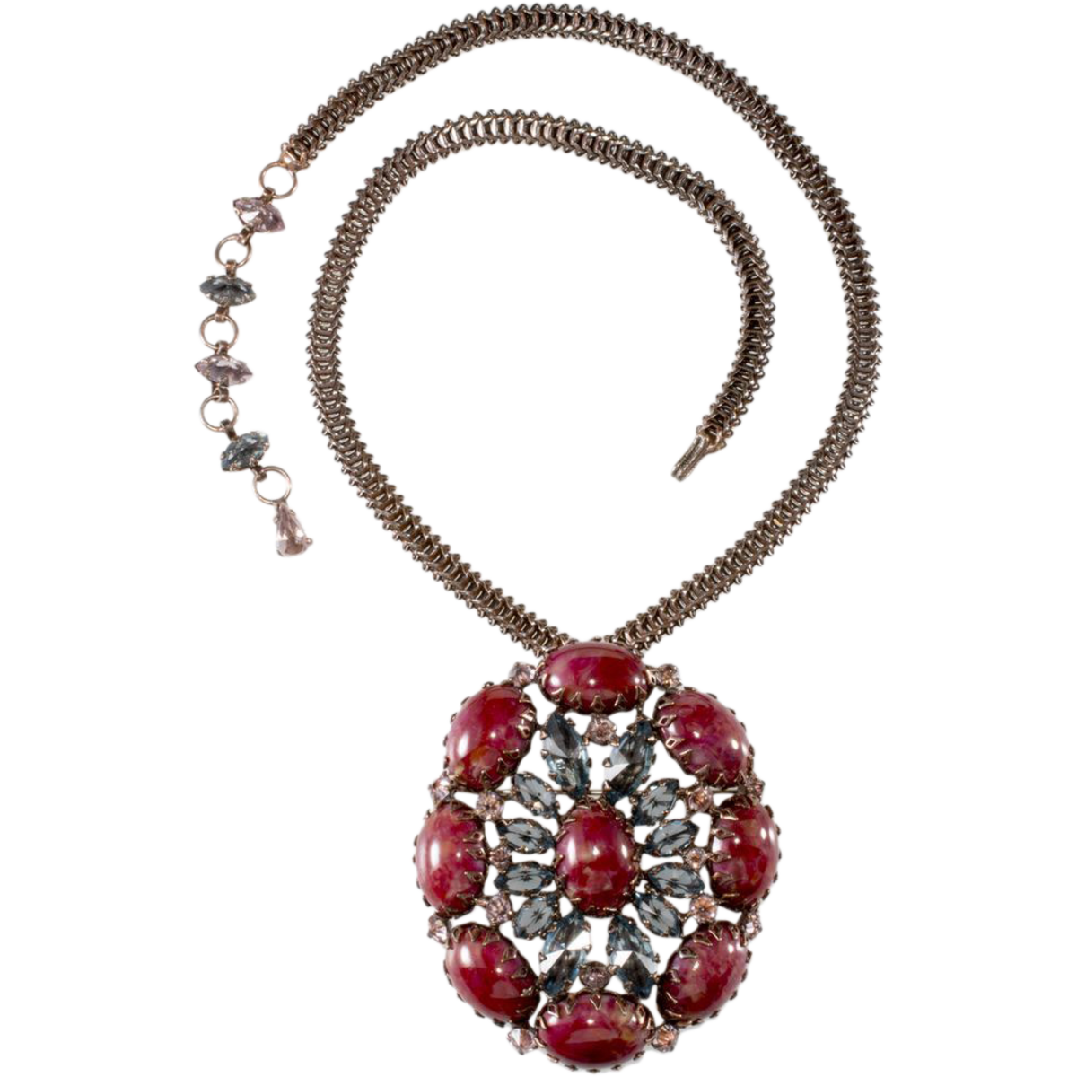 Schreiner chain necklace with removable brooch/pendant.