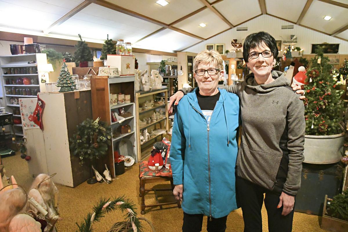 Linda Van Der Brink, left, and Fonda Van Beek operate The Church, located in Alvord, Iowa.