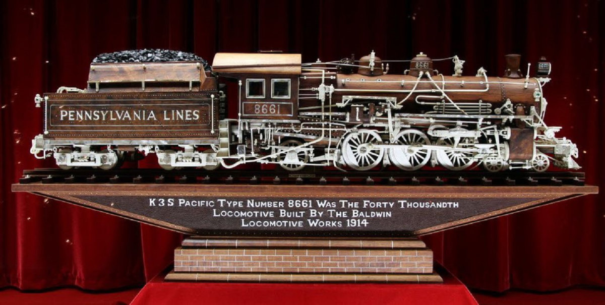 K3S Pacific Type Number 8661 was the 40,000th locomotive built by the Baldwin Locomotive Works, 1914.