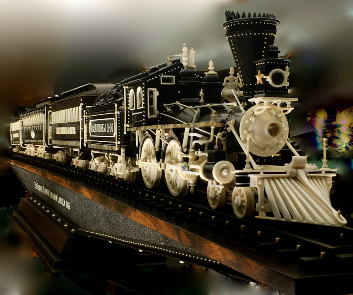The funeral train of Abraham Lincoln.