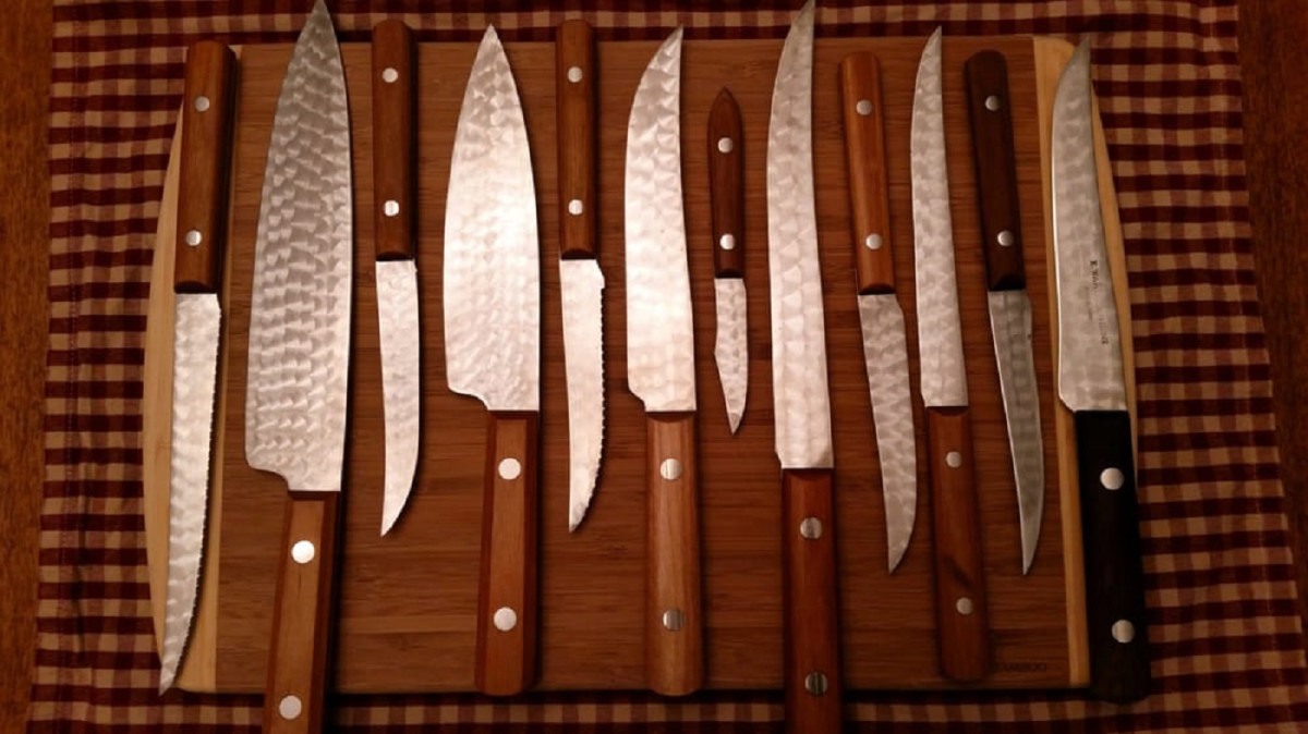 Examples of the cutlery Warther crafted.