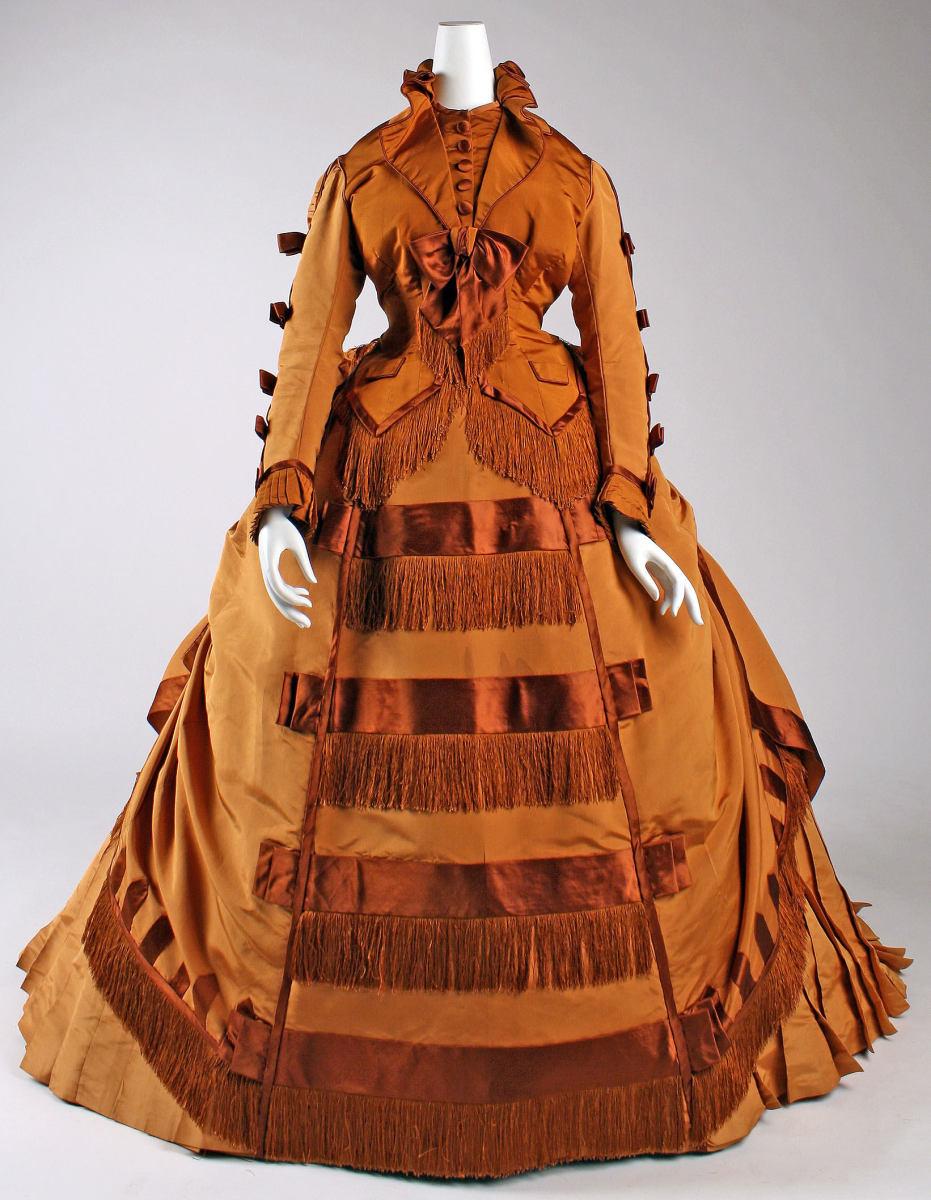 Silk dress, circa 1867-71, by French designer Depret.