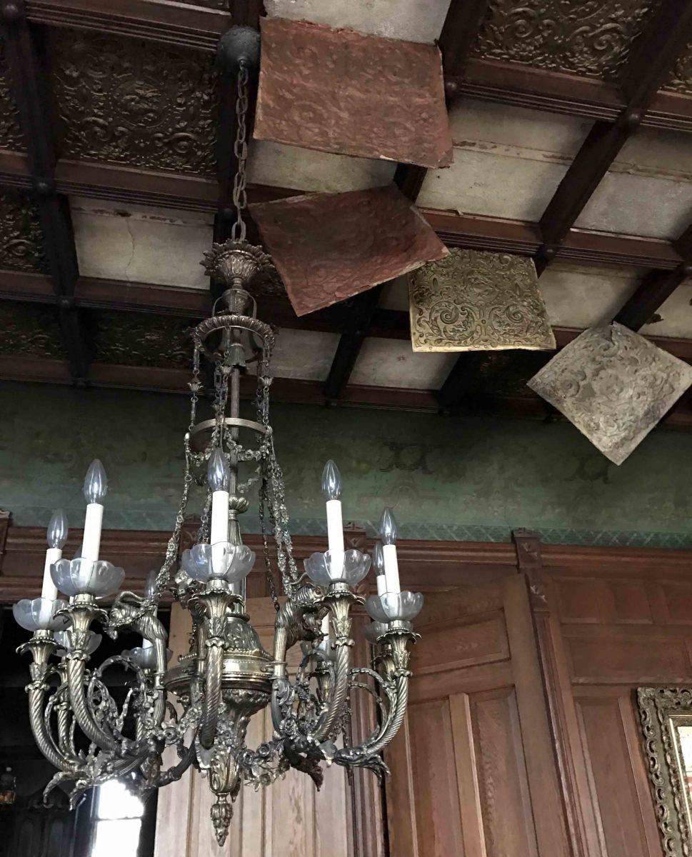 Fire damage ceiling tiles