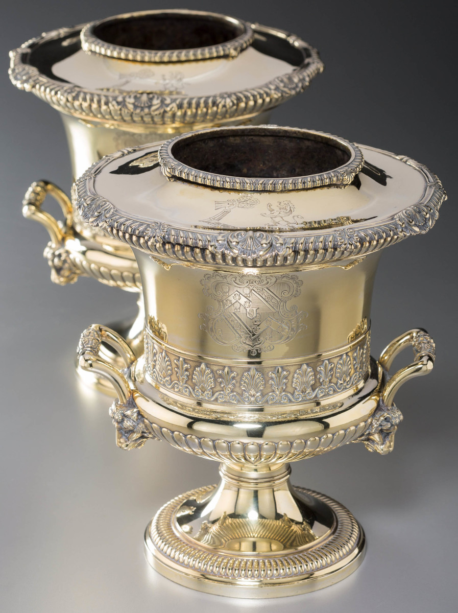Paul Storr silver-gilt wine coolers