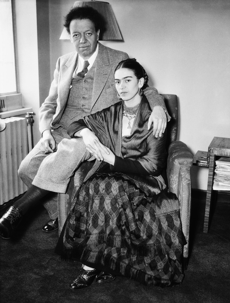 Diego Rivera and Frida Kahlo in 1930.